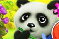 Fröhlicher Panda