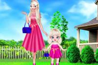 Mutter und Baby Elsa Fotoshoot
