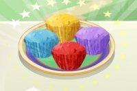 Regenbogen Muffin