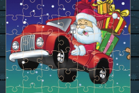 Weihnachtswagen-Puzzle